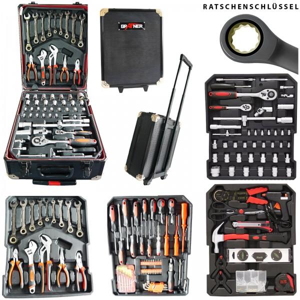 Grafner® Werkzeugkoffer 599 teilig Ring Ratschen bestückt Werkzeugtrolley