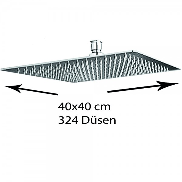 Grafner® Edelstahl Duschkopf 40x40 cm Regendusche