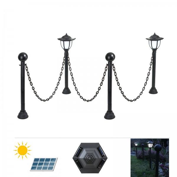 Grafner® LED Solar Standleuchten Set als Garten- Wegbegrenzung