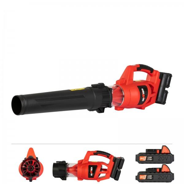 Grafner® 2x Akku-Laubbläser 2 x 20V AL10805 inkl. Schnellladegerät