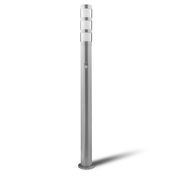 Grafner® Edelstahl Wegleuchte mit Bewegungsmelder WL10201 Gartenlampe 110 cm